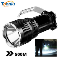 Super bright long range LED searchlight Flashlight 5 lighting modes waterproof aluminum alloy Suitable for hunting, adventure