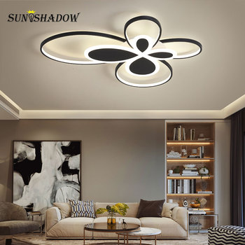 Modern Ceiling Light LED Black Chandelier Ceiling Lamp For Living room Dining room Bedroom Corridor Kitchen Ceiling Led Lustres black white square round led ceiling lamp living room dining room bedroom hall kitchen decoration modern dimming ceiling lamp