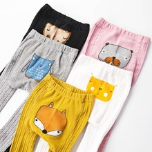 Newborn Embroidery Pantyhose For Boys Knitted Tights Baby Girls Cartoon Tights Kids Cotton Infant Tights For Children