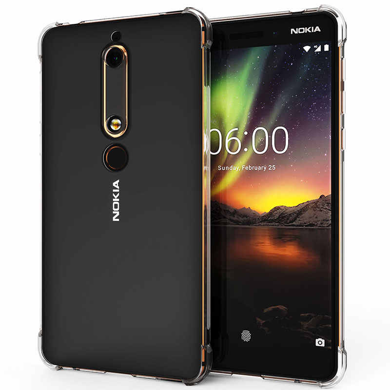 Bao Da ốp lưng Cho Nokia 2.2X7X3 5.1 6.1 7.1 Plus Mềm Mại Chống Sốc Dành Cho Nokia X6 X5 plus 8 Sirocco 9 Không Silicone TPU