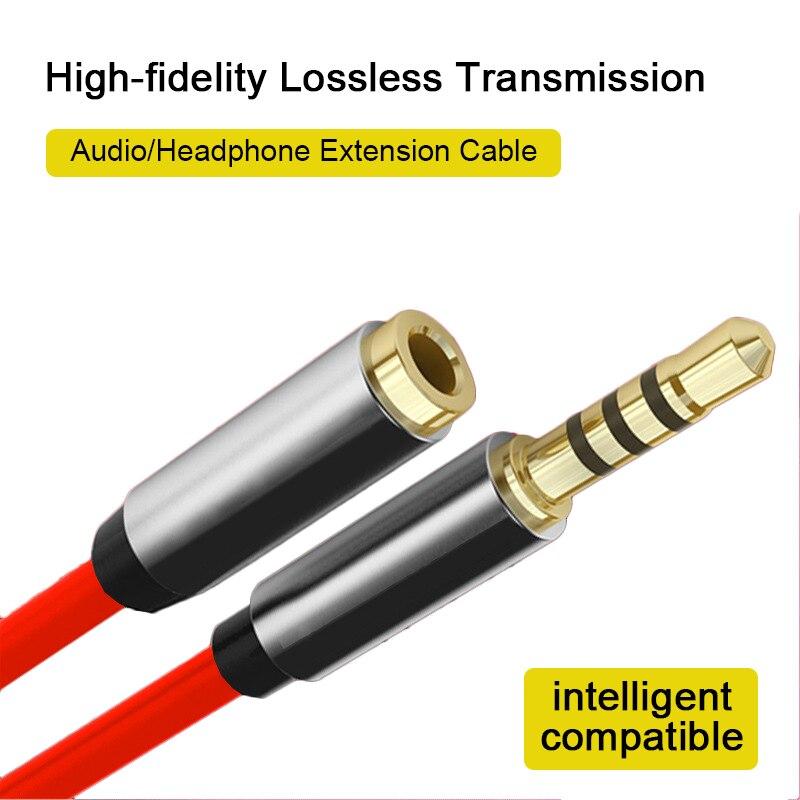 1m/2m/3-m подключения к разъему AUX 3,5 мм аудио кабель-удлинитель Разъем для мужчин и женщин кабель для наушников Car Наушники Динамик мобильный те...