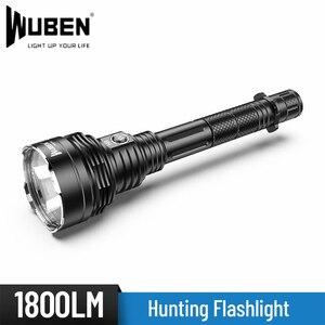 WUBEN H8 дальний бросок 1000 метров CREE XHP35 светодиодный фонарь для самозащиты 18650 Аккумулятор для охоты на открытом воздухе Рыбалка фонарик