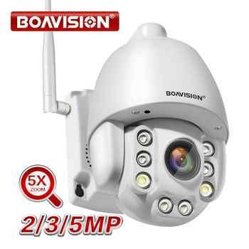 Caméra IP Wifi PTZ 1080P 3MP 5MP Super HD 5X Zoom Audio bidirectionnel caméra PTZ sans fil extérieure 60m IR vidéo caméra de sécurité à domicile P2P