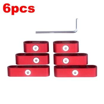 6pcs SBC 350 Spark Plug Wire Separators Dividers Looms CNC Premium Quality Aluminum Alloy Suits 7mm 8mm 9.5mm