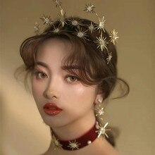 jewelry  headdress crown hoop hair decoration water drill earrings fashion modeling head bridal accessories