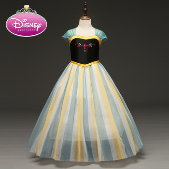 Disney Anna Princess Girls Dress Kids Dresses for Girls Christmas Dress Up Costume Party New Year Girl Clothes Frozen 2020 New girls party dress disfraz princesa 2017 brand kids dresses princess costume lace 2colors children dress girl clothes