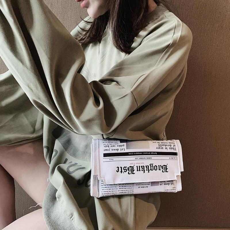 Jodimitty Báo Thiết Kế Hình In Nữ Túi Xách Bao Thư Ngày Ly Hợp Dây Chuyền Ví Đeo Chéo Túi Đeo Vai Túi Xách