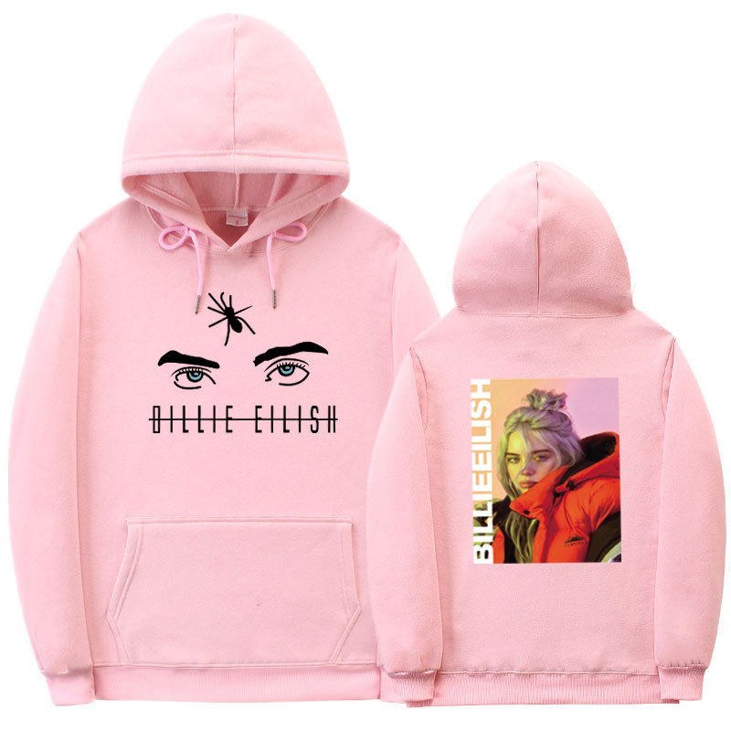 Stride Into For Hot Sales Billie Eilish Hoodie Rap Singer Related Products Large Size Hooded Sweatshirt