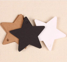 Étiquettes en papier Kraft étoiles multi-usages 6x6cm, étiquette de mariage, carte-cadeau, étiquettes de prix, bagages, décoration de noël, ornements de noël 50 pièces