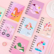 2020 New Cartoon Portable Mini Coil Notepad Hard Cover Cute Animal notebook memo Time Organizer student School Supplies Kid Gift cute mini coil portable notepad sheep chicken bird panda office student school supplies planner notebook inner page with line