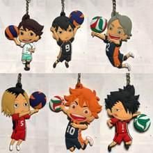 1Pc nowe Anime Haikyuu Kageyama Hinata Kenma Kozume pcv figurka brelok wystrój torba wisiorek zabawki do kolekcjonowania dzieci prezent