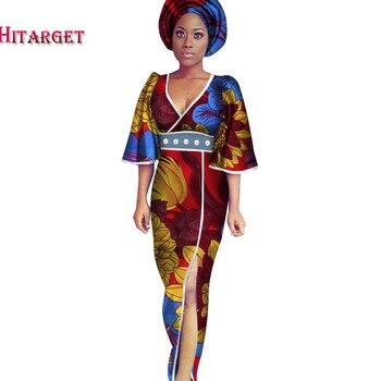 2020 Casual  dress Plus Size 5XL Women African Dresses Clothing Bazin Riche African Cotton Print Long Dresses for Women WY2623