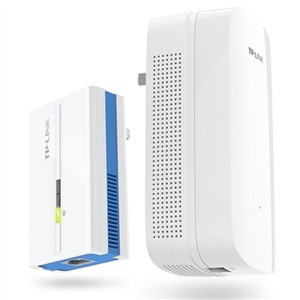 A pair AC1200 daul band WiFi Power Line KIT Wireless PowerLine Adapter Network Extender WiFi Hotspot 1200mbps 11AC WiFi Extender(China)