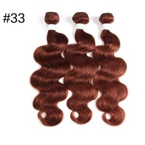 """Image 5 - Бразильские волнистые предварительно окрашенные человеческие волосы для наращивания блонд 613/#33/#30/#27/# 99J/# Бург 10 """" 26"""" Remy натуральные кудрявые пучки волос"""
