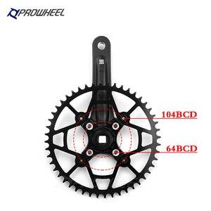 Image 3 - PROWHEEL piñón de agujero cuadrado para bicicleta, manivela de 170/175mm, 30/32/34/36/38/40/42/44/46/48/50/52T, platos y bielas de bicicleta de montaña