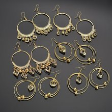 2020 Top Fashion Aretes Oorbellen Contracted Circle Eardrop Inlay Earrings Love Hollow-out Female Girlfriends Adorn Article the new european and american fashion earrings contracted dazzle colour hollow out long wings ms popular earrings adorn article