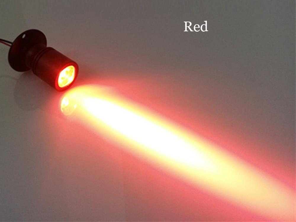 10 шт./лот затемнения светодиодные светильники для белый Потолочный Точечный светильник на потолок алюминиевый 110 v-220 v дома подсветка для шкафов отверстие Размеры 28 мм - Испускаемый цвет: Красный