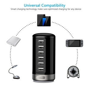 Image 5 - Smart USB Charger 6  Port Cylinder Wall  Phone Charging Stations for Android Apple iPhone 7 Plus iPad Pro/Air 2 LG