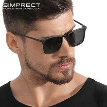 SIMPRECT TR90 Polarized Sunglasses Men 2019 UV400 High Quality Square S
