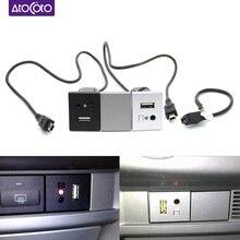 자동차 4 핀 미니 USB 플러그 인터페이스 케이블 어댑터 연결 포드 포커스 MK2 CD DVD AUX 컨트롤 버튼 스위치 패널 커버