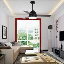 42 ''матовый черный потолочный вентилятор свет стеклянный абажур светодиодный пульт дистанционного управления