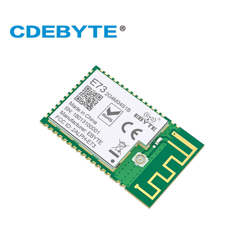 Ebyte E73-2G4M04S1B nRF52832 2,4 GHz BLE 4,2 5,0 a Puerto 4dBm SMD PCB antena IPEX módulo CE FCC RoHs certificado