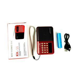 Image 4 - Premium recarregável mini portátil handheld k11 rádio multifuncional digital fm usb tf mp3 player alto falante dispositivos suprimentos novo