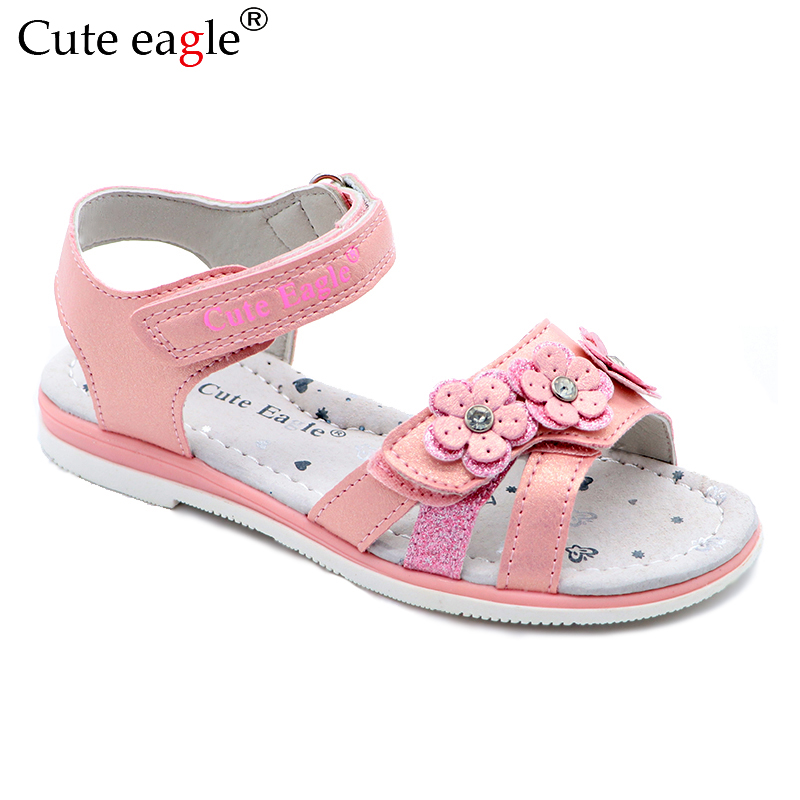 Girls Sandals Brand Sandals Child Summer Cut-outs Rubber Leather School Sport Shoes Breathable Open Toe Casual Sandals Girls New