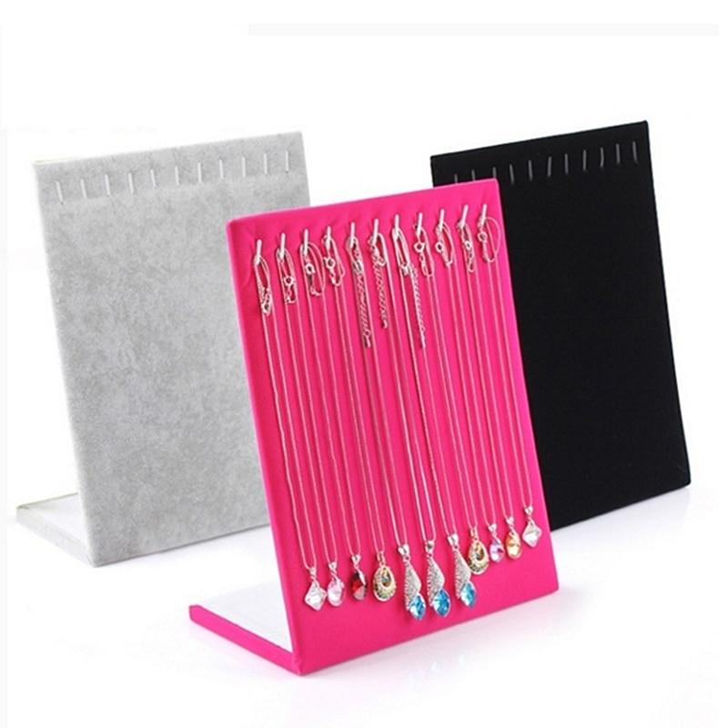 Necklace Pendant Display Stand Women Jewelry Organizer Holder Storage Case Bracelet Display Rack D20