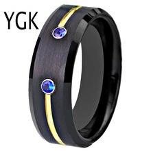 Классическое кольцо для подарка на годовщину вольфрамовое обручальное