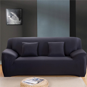 Image 4 - Solid Color Sofa Covers for Living Room Polyester Modern Elastic Corner Couch Cover Slipcovers Chair Protector 1/2/3/4 Seater