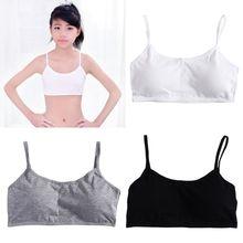 3pcs Girls Underwear Cotton Bras Girls Sports Bra Breathable Teens Training Bra 95AE