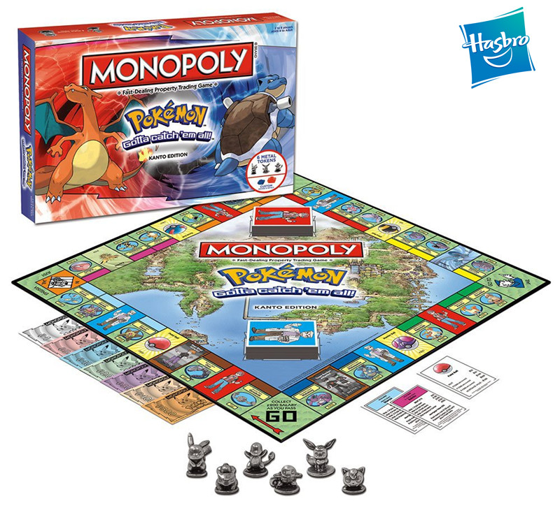 Hasbro MONOPOLY POKEMON Toys Adult Family Gaming Education Toy Board Card Games Kids English Version Hobby Collectibles