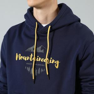 Image 4 - SIMWOOD 2020 Herbst winter neue mit kapuze hoodies 100% baumwolle brief Berg druck kontrast farbe sweatshirts plus größe SI980565