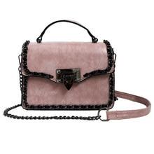 цены lady super hot small bag female 2019 new fashion retro chain handbag strap shoulder bag Messenger bag small square handbag