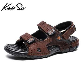 2021 Summer Mens High quality Cow Leather Roman Sandals Fashion Outdoor Handmade Classic Flat Beach Big Size