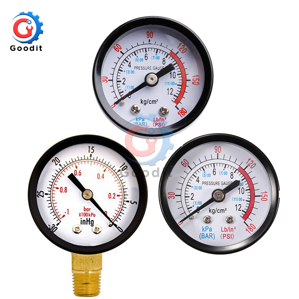 Portable Dual Scale Dial Gauge 1/4