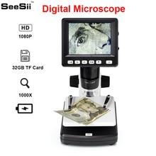 SeeSii 3.5inch HD 1080P Portable Desktop Magnification Microscope Professional 1000X LCD Digital 2048*1536 Resolution