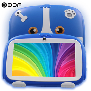 BDF New Google Tablet Pc 7 Inch Android 8.0 Quad Core Kids Tablets Google Play Bluetooth WiFi Dual Camera Children's gifts