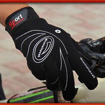 Guantes de ciclismo deportivo Unisex, antideslizantes, con absorción de impacto