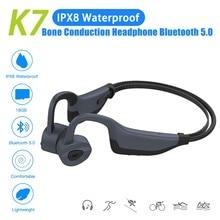 2in1 Bluetooth os Conduction casque + lecteur MP3 basse IPX8/IP55 étanche sans fil écouteur sport casque avec micro 16GB