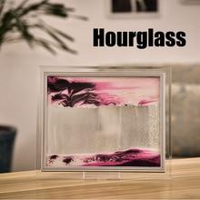 3D Динамическая струящаяся зернистая картина из песка прозрачная стеклянная рамка для рисования пейзаж I88#1