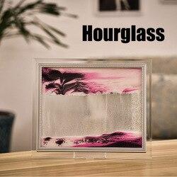 3D Grão de Areia de Fluxo Dinâmico Pintura Moldura De Vidro Transparente Desenho Da Paisagem I88 #1
