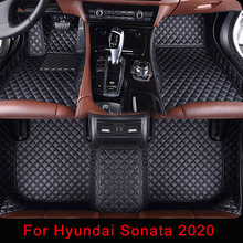Car-Floor-Mats Hyundai Sonata Custom 5D Plaid for Embroidery Hand-Craft