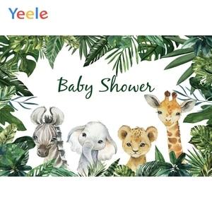 Image 3 - صور خلفيات سفاري حيوانات استوائية لحفلات استحمام الطفل ملصق صور خلفيات فينيل صور للتصوير بالاستوديو للأطفال