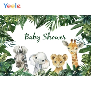 Image 3 - Photo Backdrops Safari Animals Tropical Baby Shower Party Poster Photography Backgrounds Vinyl Photocall For Photo Baby Studio