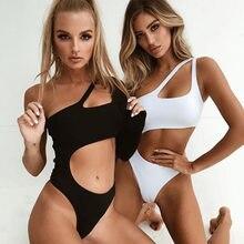 Tting2021 sexy um pedaço maiô feminino sem costas bodysuit brasileiro cor sólida roupa de banho feminino natação beach wear