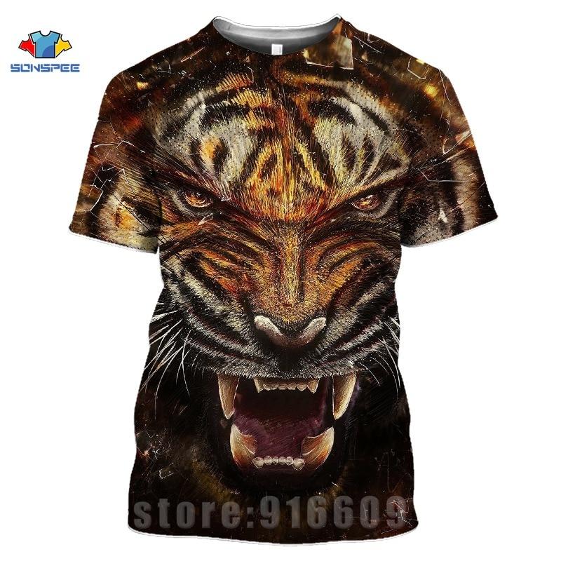 Animal Tiger Face Shirts 3D Print Horror Lion T shirt Streetwear Kid Men Women Fashion T-shirt Harajuku Shirts Homme King Tshirt (14)