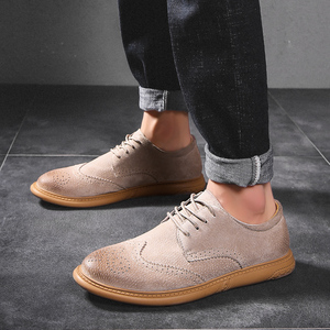 Image 2 - New British Style Casual Brogues Shoes Lazy Sets Breathable Driving Men Oxfords Fashion Brand Dress Shoes Man Male Adult Loafers