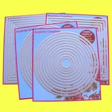 4 セット大切削ダイス引き裂かエッジ長方形スクエアサークル & オーバル cardmaking スクラップブッキング紙クラフト diy サプライズ作成ダイス